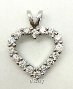 1.50 Ct G-H Moissanite Diamond 925 Sterling Silver Pendant womens jewellery Gift