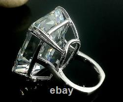 100ct Engagement Ring Inspired 925 Sterling Silver Ultimate Emerald Cut Gift New