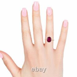 10K Yellow Gold AAA Ruby Solitaire Ring Women Jewelry For Gift Size 10 Ct 5.1