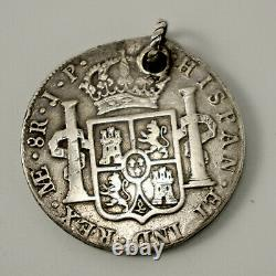 1813 Spanish 8-Reale Coin Pieces of Eight Unusual Gift or Pirate Earing