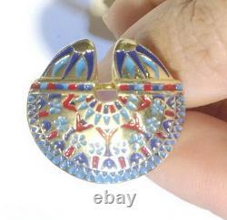 18K gold sterling silver egyptian ring egypt gift rings for men women size 4 8
