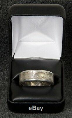 1922 90% Silver Peace Dollar Double Sided Coin Ring Sizes 12-22 Half Gift Men's