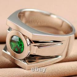 2.20ct Brilliant Cut Superhero Green Lantern Power 925 Sterling Silver Ring+gift