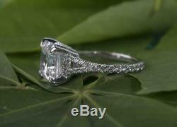 2.70 Ct Princess Diamond Prong Setting 925 Silver Engagement Ring, Gift For Her