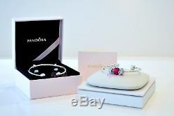 2018 Valentine's Pandora Be Mine Stacked Open Bangle Gift Set B800775-2