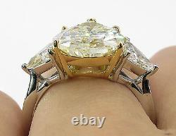 3.40ct Yellow Fancy Pear Cut Wedding/engagement 925 Sterling Silver Ring+gift