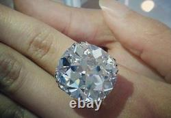 34 CT White Cushion Cut Cocktail Party Ring 925 Sterling Silver CZ Gift For Her