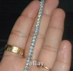 6Ct Round Cut Moissanite Women Tennis Bracelet Birthday Gift 925 Sterling Silver