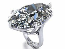 75ct Cocktail Party Ring inspired 925 Sterling silver white pear-shaped gift Cz