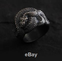 925 Silver Handmade Snake Design Ring Custom-made Original Men's Gift