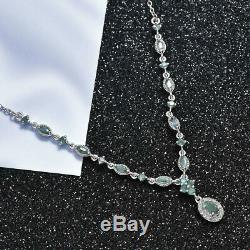 925 Sterling Silver Alexandrite Necklace Jewelry Gift for Women Size 18 Cts 1.8
