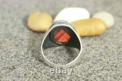 925 Sterling Silver Certified Ruby Men's Ring Handmade Jewelry Gift Free Ship