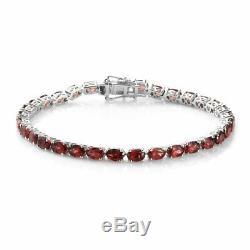 925 Sterling Silver Garnet Tennis Bracelet Jewelry Gift Size 8 Ct 17.6