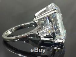 925 Sterling Silver White Asscher 35ct Elizabeth Taylor Inspired Ring Gift Party