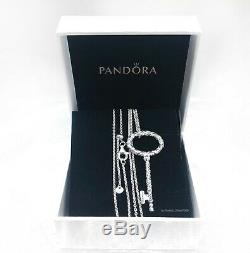 AUTHENTIC PANDORA 925 Silver Regal Pattern Key Pendant Necklace 397676 +Gift Box
