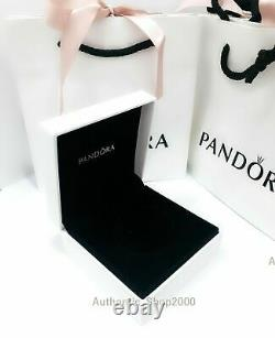 AUTHENTIC PANDORA PAVE SNAKE OPEN HEART NECKLACE WithBOX MOTHERS DAY GIFT FREE S+H
