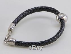 Alexander McQueen Bracelet Leather Skull 354165 J16KI 1000 Mens Womens Auth Gift