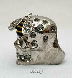 Alexander McQueen Silver Bee Skull Ring sz11 Boxed, Perfect Gift