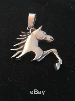Amazing Navajo Sterling Silver Horse Head Pendant 2 Rare Gift Sale