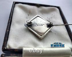 Antique Art Deco Sterling Silver Butterfly Wing Brooch Pin Signed Tlm Mott Gift