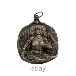 Antique Art Nouveau Stylish Sterling Silver Haiti Lady Pendant Gift