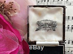 Antique Edwardian 935 Fine Silver Marcasite Bow Brooch Superb Cond Bridal Gift