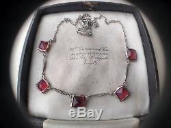 Antique Edwardian Sterling Silver Dragons Breath Necklace Bridal Jewellery Gift