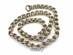 Antique Victorian Silver Book Chain Collar Necklace 18 GIFT BOXED