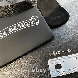 Authentic Chrome Hearts Cross Babyfat Dangling Earring + CH Pouch & Gift Bag