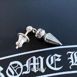 Authentic Chrome Hearts Drop Spike Small Dangling Earring + CH Pouch & Gift Bag