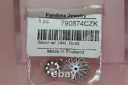 Authentic Nib Pandora Retired Gold Lace Flower Clip 790874czk 14k Gift Box