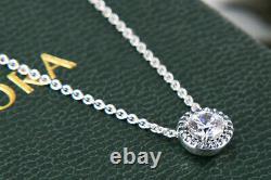 Authentic Pandora Necklace/earrings Gift Set #396240cz 296272cz Boxed