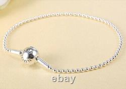 Authentic Pandora Silver Classic Essence Beaded Charm Bracelet #596002 Love Gift