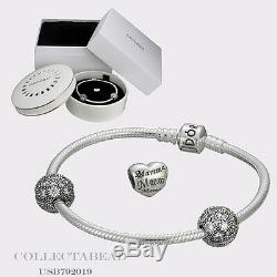 Authentic Pandora Silver Forever In My Heart Mothers Day Gift Set 7.5 USB792019