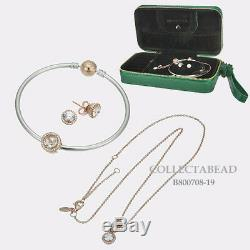 Authentic Pandora Sterling Silver ROSE Jewelry Gift Set with Travel Box B800708-19
