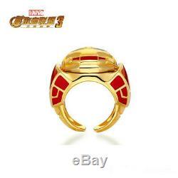 Avengers Infinity War Iron Man fight Hulk Rings Cos Gift Men's gift 925 Silver
