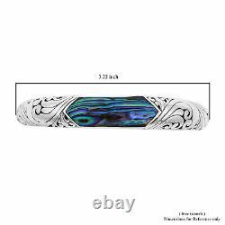BALI LEGACY 925 Sterling Silver Abalone Shell Cuff Bangle Bracelet Jewelry Gift