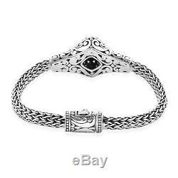 BALI LEGACY 925 Sterling Silver Citrine Bracelet Jewelry Gift Size 6.5 Ct 3.7