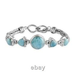 BALI LEGACY 925 Sterling Silver Larimar Bracelet Jewelry Gift Size 7.25 Ct 13.2