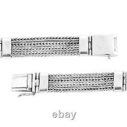 BALI LEGACY 925 Sterling Silver Tulang Naga Bracelet Size 7.25 Jewelry Gift