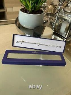 BNIB Swarovski Deluxe Silver Crystal Tennis Bracelet & Gift Bag L18.5 £120