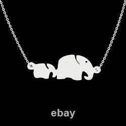 Baby and Mom Elephant Charm Necklace Gift Jewelry Necklace