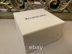 Balenciaga BB Silver Diamond Small Stud Earrings With Gift Box