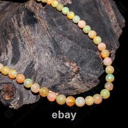 Beaded Necklace Ethiopian Opal Natural Gemstone 925 Streling Silver Jewelry Gift
