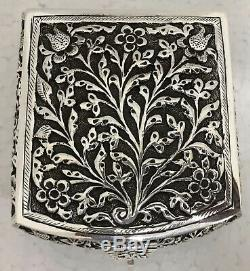 Beautiful 925 Sterling Silver Floral Repoussé Jewellery Treats Box Luxury Gift