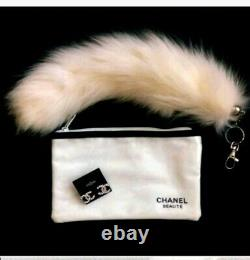 CHANEL Signature CC Earrings + Beaute Cosmetic Bag + FREE GIFT