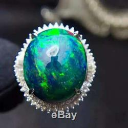 Certified Natural Fire Opal Gemstone 925 Sterling Silver Ring Women Gifts