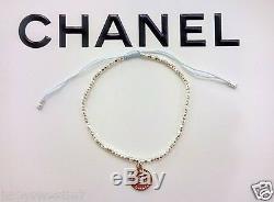 Chanel CC logo Silver Charm Pendant Bracelet Classy & Elegant Gift Box