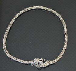 Chinese Sterling Silver Dragon Necklace Great Gift