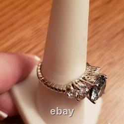 Christmas Gift 2 Ct Genuine Certified Gray Moissanite Women's Ring 925 Silver